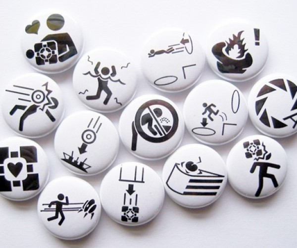 Aperture Science Buttons for Portal Fans