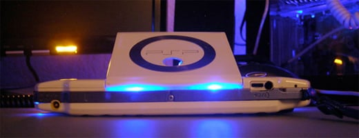 sound-reactive LED psp mod