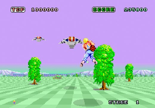 space harrier arcade nintendo wii virtual console