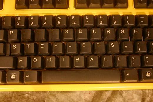 pittsburgh steelers casemod keyboard
