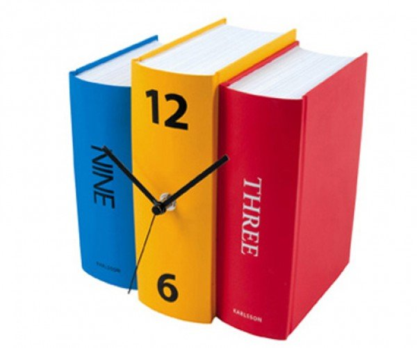 Learn What Time It is With Karlsson'S Book Table Clocks