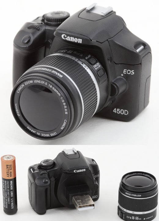 Canon Eos 450d Not A Camera At All Actually A Usb Flash