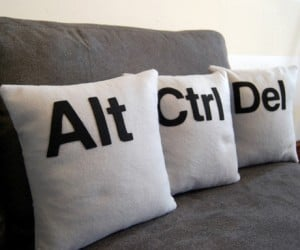 Give Your Living Room a Reset With the Ctrl Alt Del Pillows