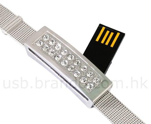 hidden usb bracelet