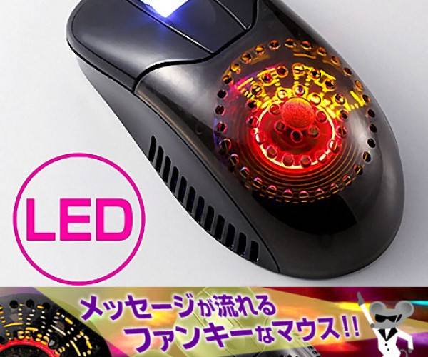 LED Message Mouse With Fan: for Cool Hands, Luke