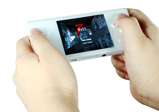 portable multi game console white