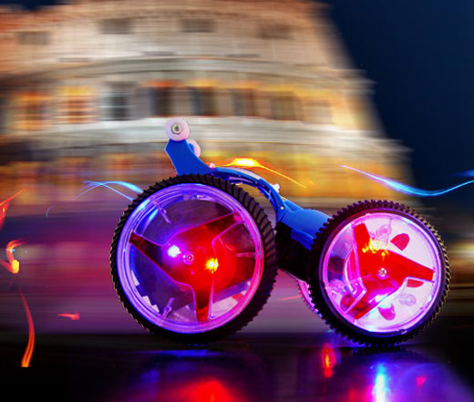 rc led car