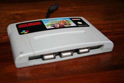 snes cartridge usb hub 1
