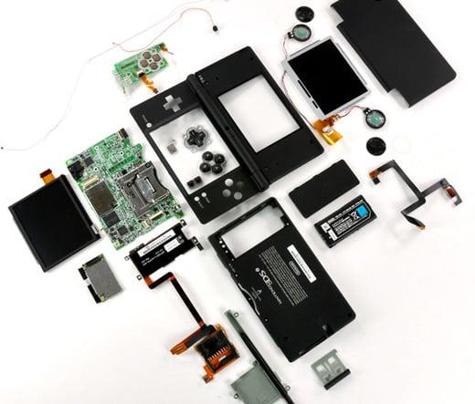 nintendo dsi ifixit disassemble dismantle handheld video game