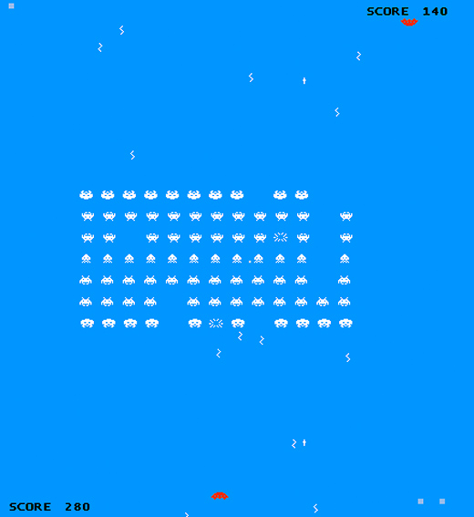 everyone's an invader space invaders