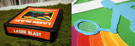 snaggs game over atari cartridge vinyl