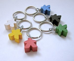 Meeple Keychain is Made of (Wooden) People