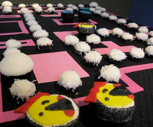 Power Up With Ms. Pac-Man Cupcakes