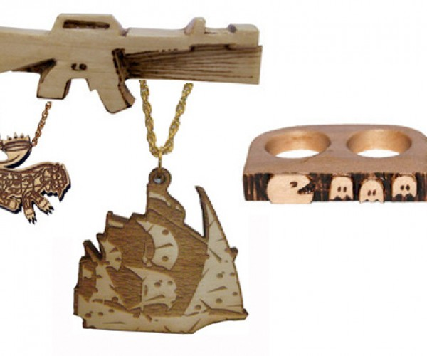 Wooden Pac-Man Double Ring is Not Quite a Weapon