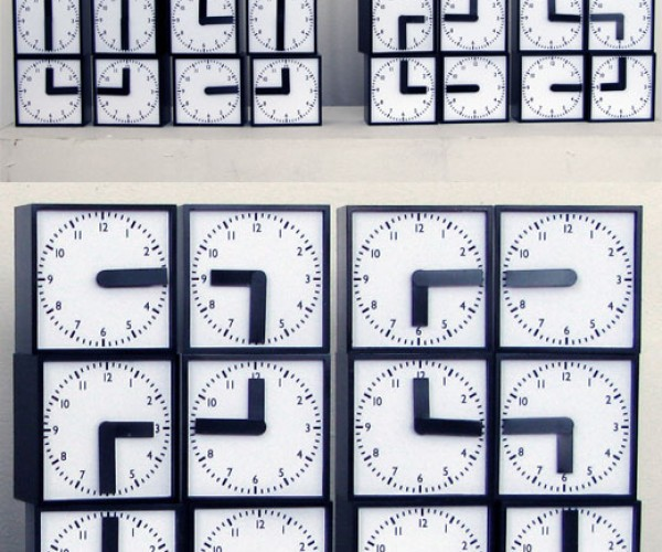 Digital Clock Needs 48 Analog Hands to Tells Time