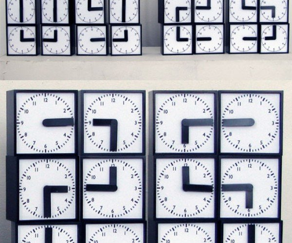 Digital Clock Needs 48 Analog Hands to Tells Time