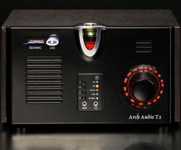 Arch Audio T2 Vacuum Tube Radio Plays Am, Fm, Mp3, Wma