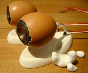 Eggshell Speakers Amazingly Don'T Shatter When You Play Music Through Them