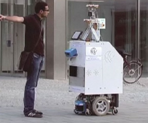 Ace the Robot Does What Male Drivers Won'T: Ask for Directions