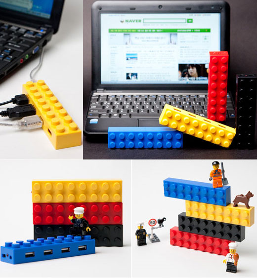 LEGO USB Hubs Offer Colorful, Stackable Connectivity ...