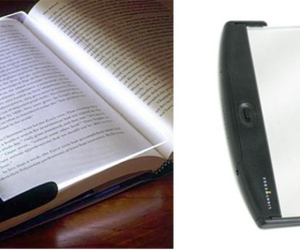 Lightwedge Reading Light Doubles as Gigantic Bookmark