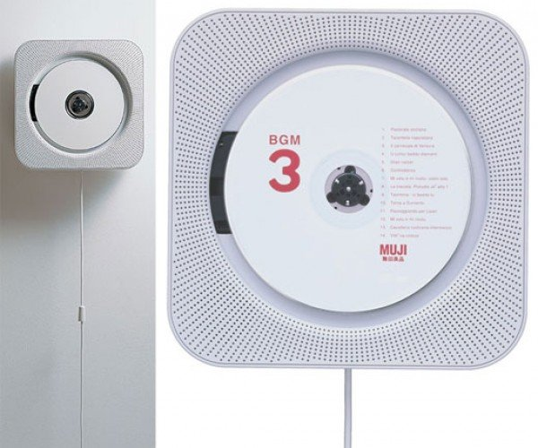 Muji Wall-Mounted CD Player: Pull String, Hear Music
