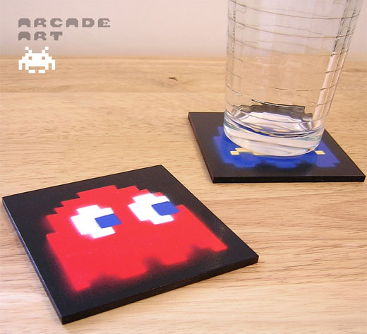 pac man ghost coasters