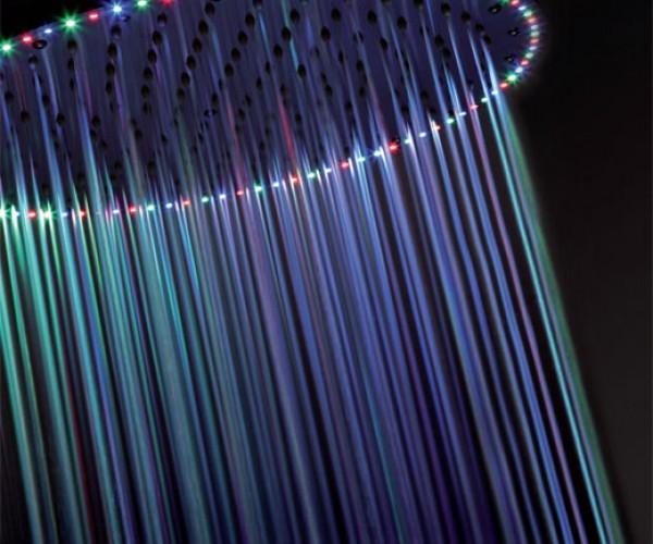 Rio LED Shower Head Lights Up Your Bath Like a Disco