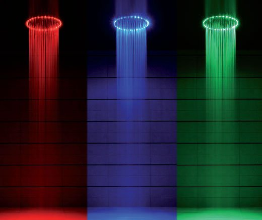 rio led shower head rgb