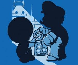 Magic Mushrooms Shirt: Mario Caught in a Shady Shroom Deal