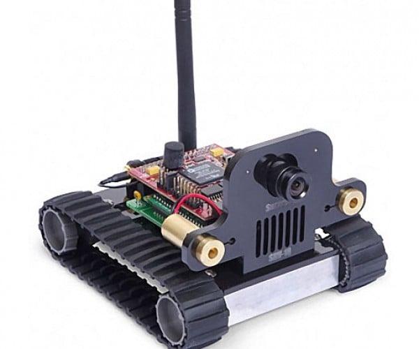Srv-1 Blackfin Wi-Fi Camera Robot Lets You Spy From Afar