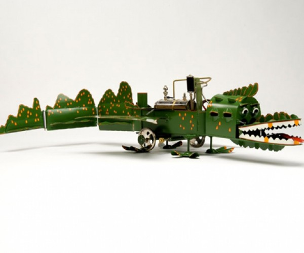 Steam-Powered Dragon Tin Toy Will Vaporize Your Money