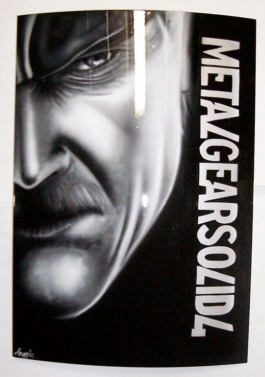 airbrush ps3 metal gear solid 4 solid snake