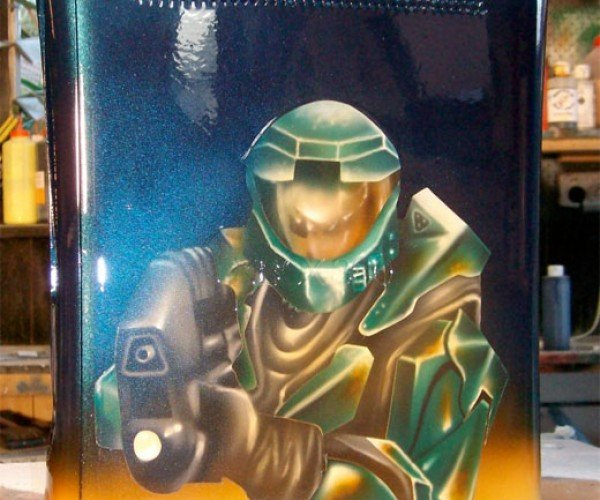 Slick Airbrushed Xbox 360: It'S All About Master Chief
