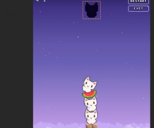 Cat Cat Watermelon, a Game About Stacking Cats (and Watermelons)