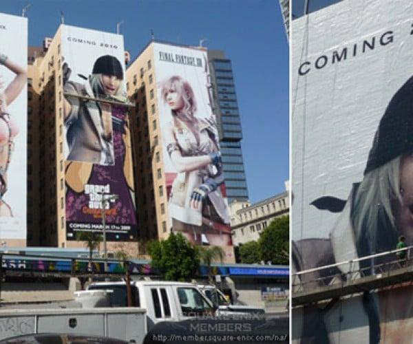 Gigantic Final Fantasy Characters Storm Los Angeles