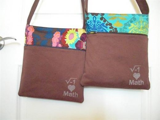 geeky math bag custom diy