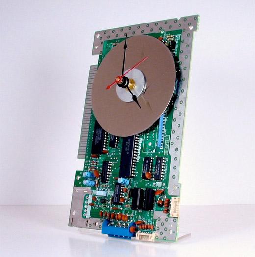 nes nintendo clock circuit board