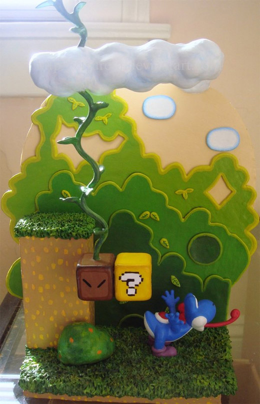 super mario world clay sculpture