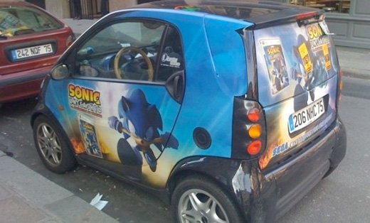 sonic the hedgehog sega france smart car