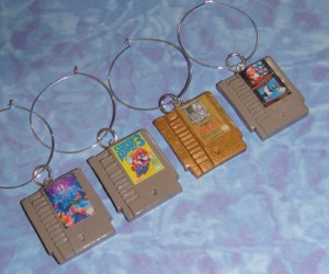 NES Cartridge Wine Charms Make Drinking Classy