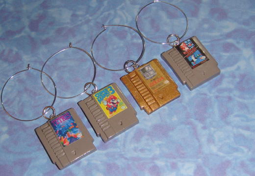 nintendo wine charms nes