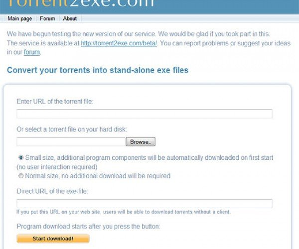 Torrent2exe Makes Torrenting Almost Idiotproof
