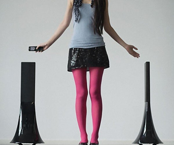 Philippe Starck Zikmu Parrot Speakers: Sleek. Tall. Modern. Wireless. Ridiculously Expensive.
