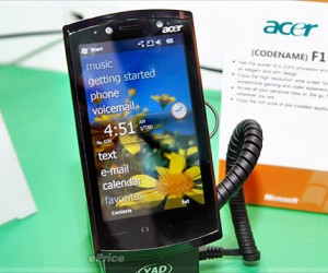 Acer F1 Phone Powered by 1ghz Snapdragon Processor