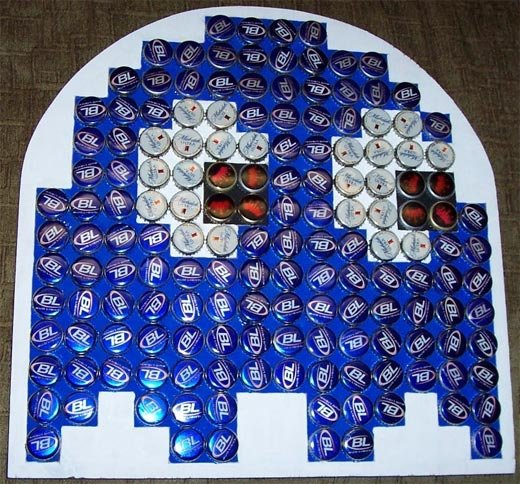 bottle cap blue ghost