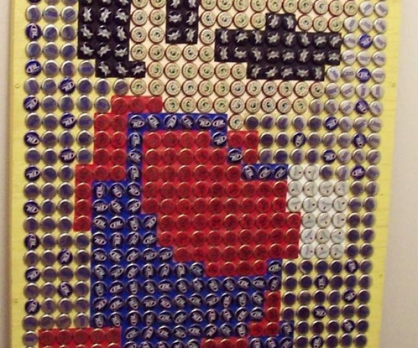 Bottle Cap Mario and Pac-Man Art Pop Onto Etsy
