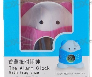 Weird Gadget of the Day: 1″ LCD Fragrance Releasing Talking Cat Alarm Clock With Temperature Display
