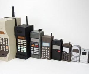 Kyle Bean'S Evolution of the Mobile Phone in Papercraft