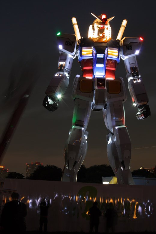 1:1 sized statue of Gundam RX-78